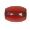 Resin Beads 19x14mm Barrel Red